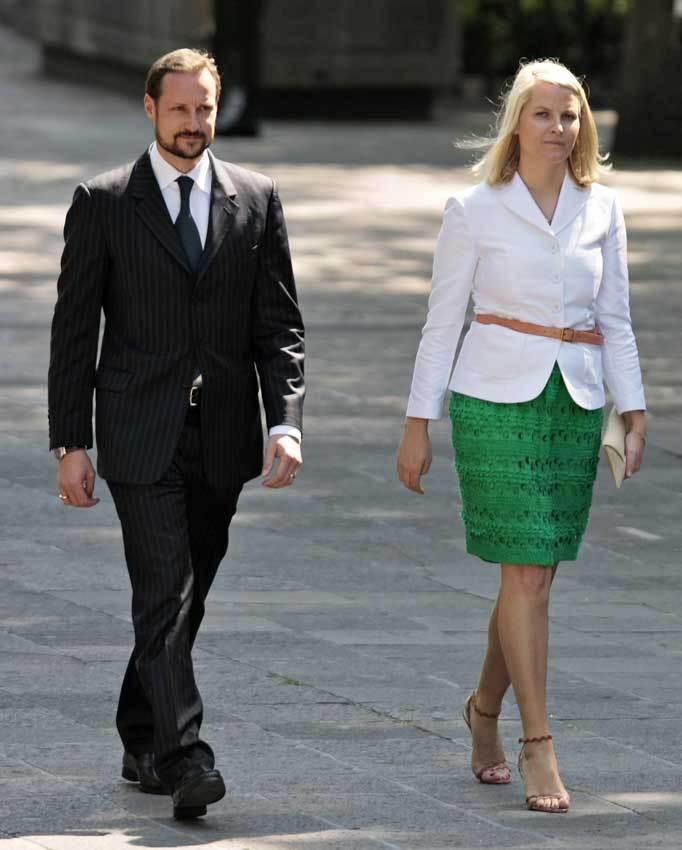 Os príncipes Haakon e Mette-Marit da Noruega