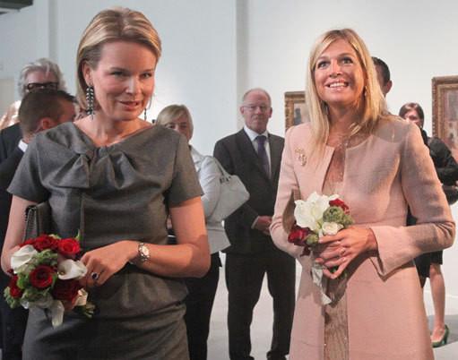 As princesas Mathilde e Máxima
