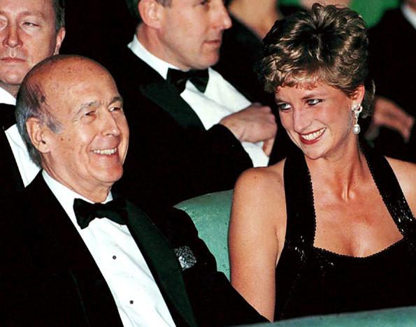 Valéry Giscard d'Estaing e a princesa Diana