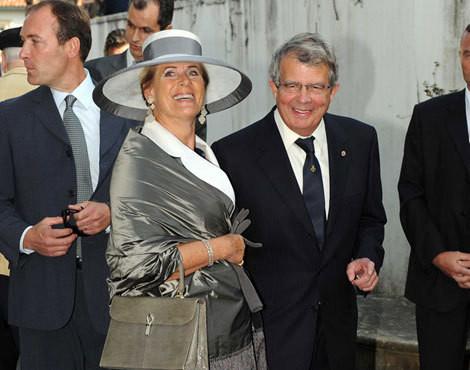 O príncipe Alexandre da Bélgica com a mulher, Léa Wolman