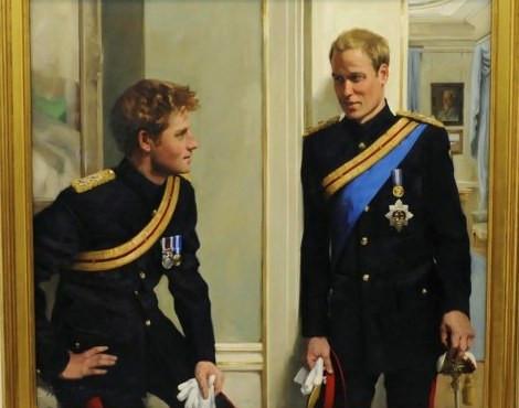 O retrato dos príncipes William e Harry
