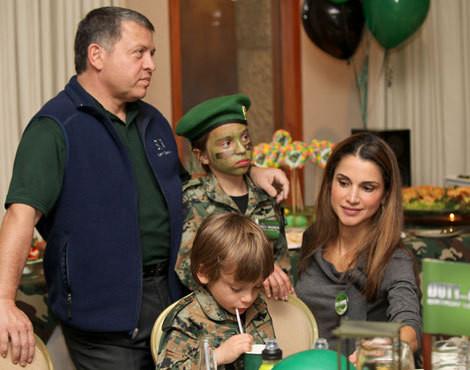 O aniversário do filho mais novo dos reis Rania e Abdullah II da Jordânia, Hashem
