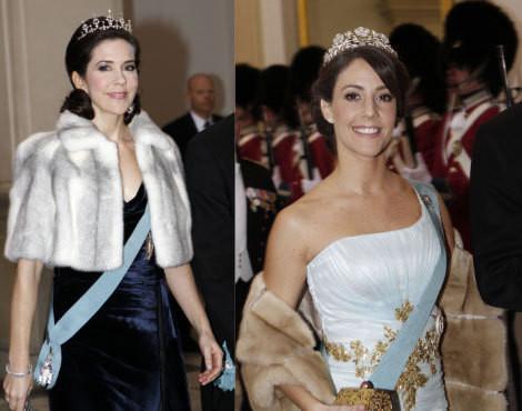 As princesas Mary e Marie da Dinamarca