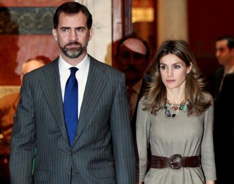 Os príncipes Felipe e Letizia