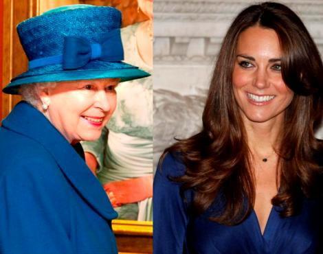 A rainha Isabel II e Kate Middleton