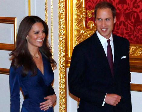 Kate e William no dia do anúncio do noivado