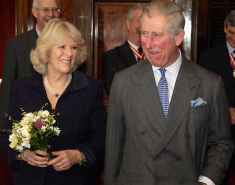 Camilla Parker-Bowles e príncipe Carlos de Inglaterra
