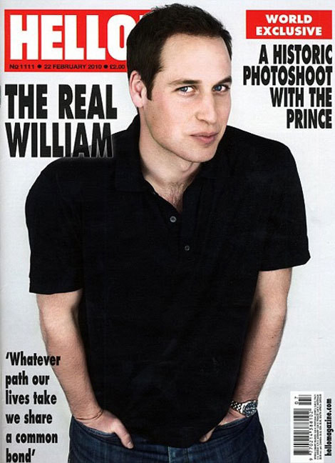 O príncipe William na capa da revista Hello