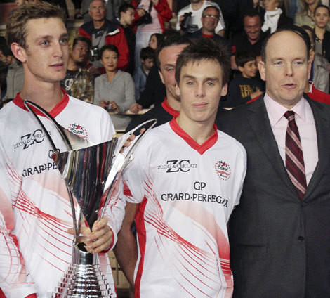 Pierre Casiraghi, Paul Ducruet e Alberto do Mónaco