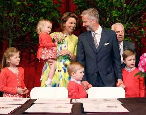 Príncipe Philippe da Bélgica com a família