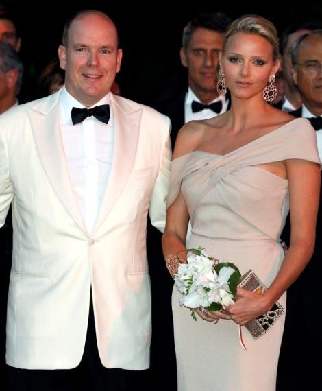 O príncipe Alberto do Mónaco e Charlene Wittstock