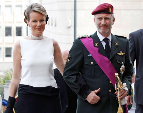 Príncipes Mathilde e Philippe da Bélgica