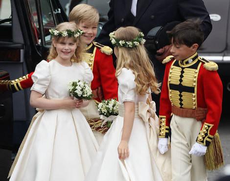 Os pajens e as damas-de-honor do casamento real