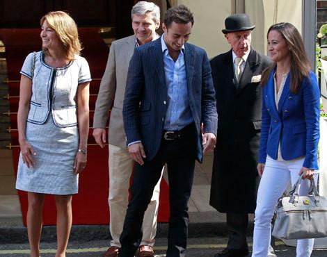 Os pais e os irmãos de Catherine Middleton