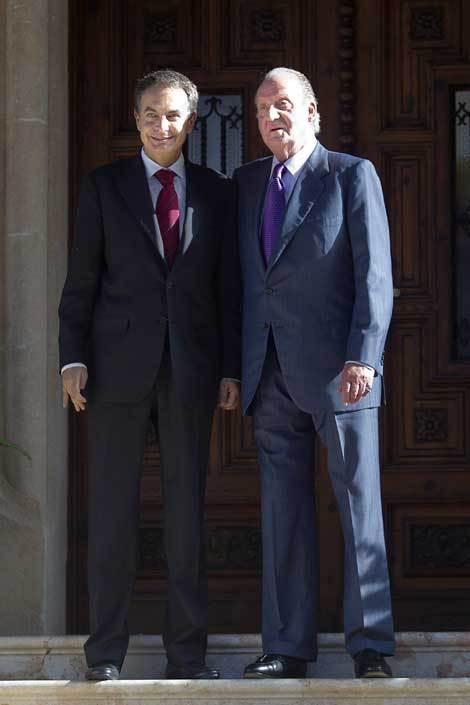 José Luis Zapatero e Juan Carlos