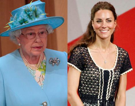 Rainha Isabel II e Catherine Middleton