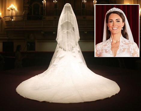 O vestido de noiva de Catherine Middleton