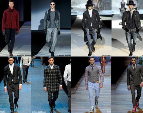 Jonathan e Kevin Sampaio na Semana da Moda de Milão