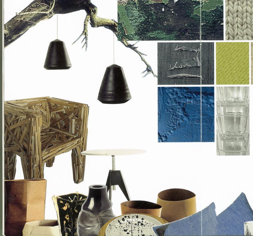 Raw, composição retirada do catálogo de tendências Ambiente, pela Messe de Frankfurt.