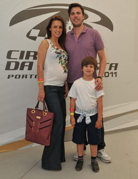 Ana Gomes e Gio Rodrigues com o filho deste, Romeu