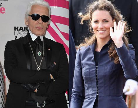 Karl Lagerfeld Kate Middleton