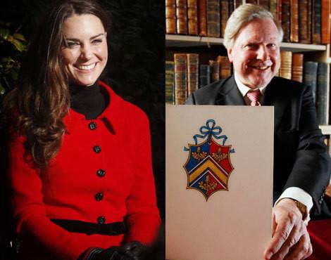 O brasão da família de Kate Middleton