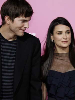 Demi Moore e Ashton Kutcher falam em adopção