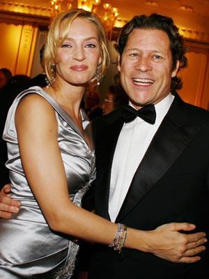 Uma Thurman e Arpad Busson vivem momentos de romance num iate de luxo