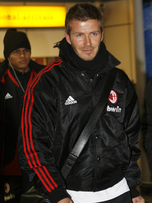 David Beckham permanece em Itália