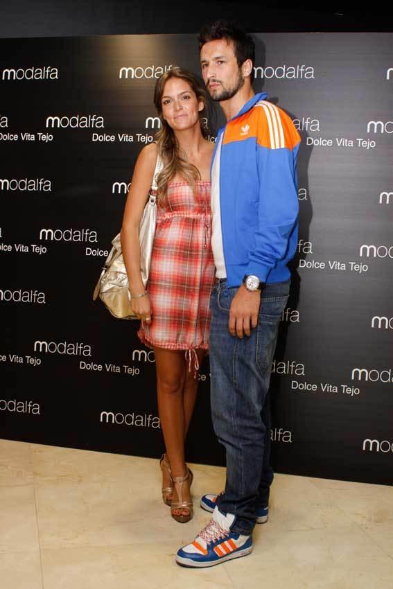 Diana Chaves e César Peixoto durante a inauguração da loja da Modalfa, no Dolce Vita Tejo