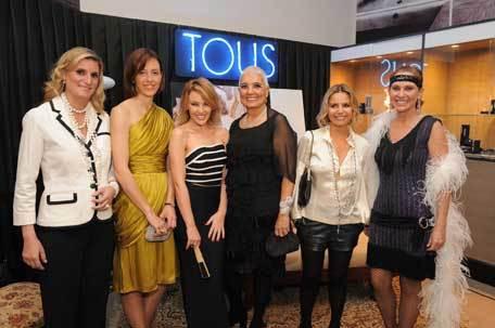 Maria Zurita de Borbon, Gracinha Viterbo, Kylie Minogue, Rosa Oriol, Eugenia Martinez de Irujo e Ana Rodriguez