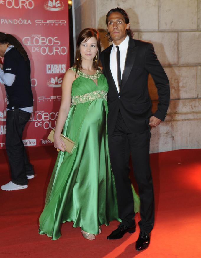 Rute e Bruno Alves na XIV gala dos Globos de Ouro