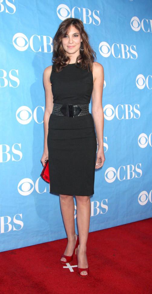 A actriz na festa da CBS