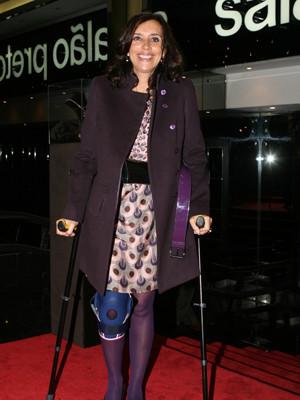 Margarida Prieto partiu uma perna
