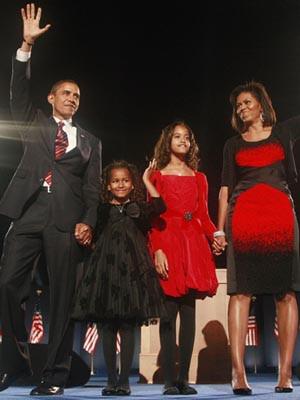 Família Obama muda-se para Washington