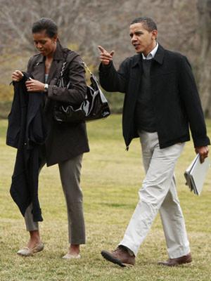 Barack e Michelle Obama oferecem espaço de diversão às filhas