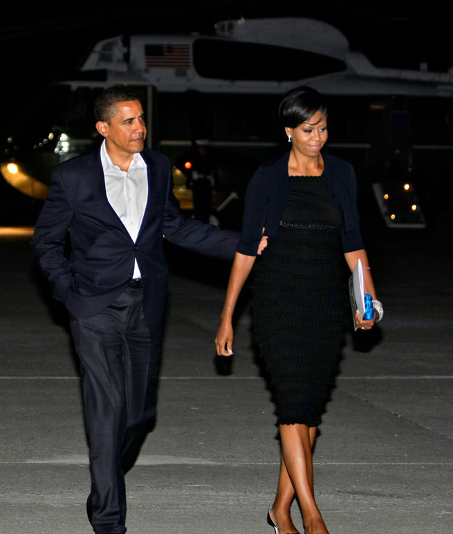 Barack e Michelle Obama em Nova Iorque