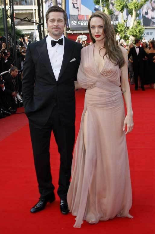 Brad Pitt e Angelina Jolie na passadeira vermelha do Festival de Cinema de Cannes