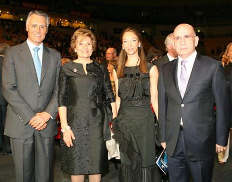 Aníbal e Maria Cavaco Silva com Maria Paula e Domingos Duarte Lima