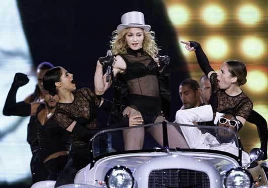 A Rainha da Pop em palco