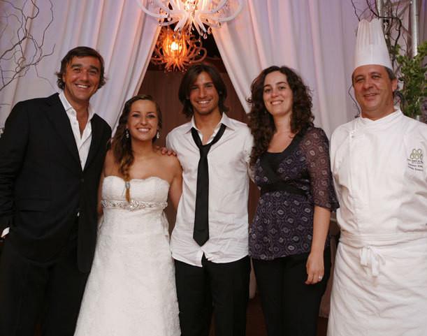 Luís Ferreira, os noivos, Susana Brito e o chef António Almeida