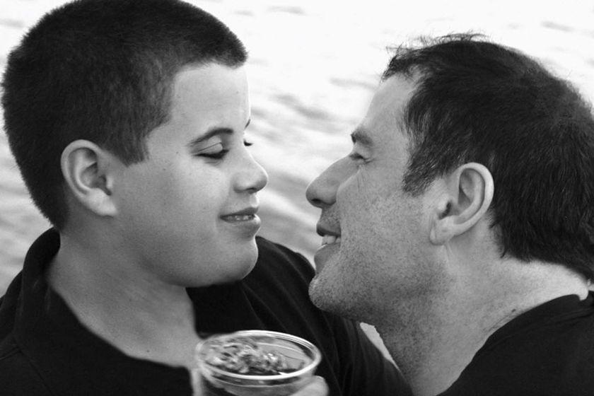John Travolta com o filho Jet, que morreu tragicamente no início deste ano
