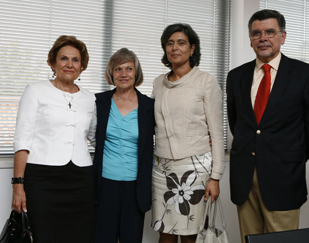 Maria Cavaco Silva, Maria de Lurdes Vieira, Idália Moniz e António dOrey Capucho