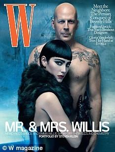 O casal na capa da revista