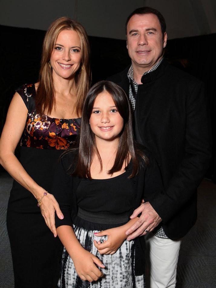 Kelly Preston, John Travolta e Ella Blue