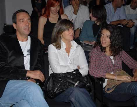 Júlio Magalhães com a mulher, Manuela, e a filha, Mariana