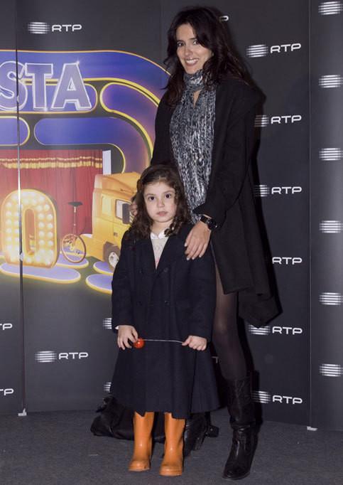 Marta Leite de Castro com a filha, Mia