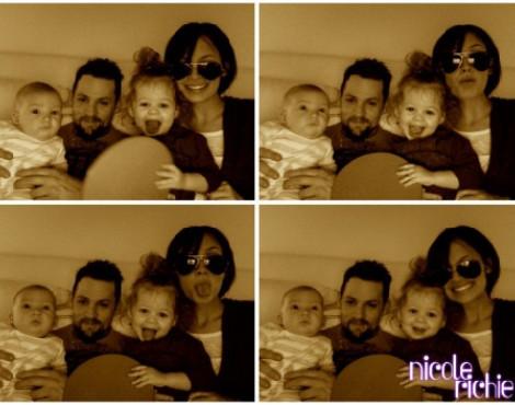 Nicole Richie e Joel Madden com os filhos, Harlow e Sparrow