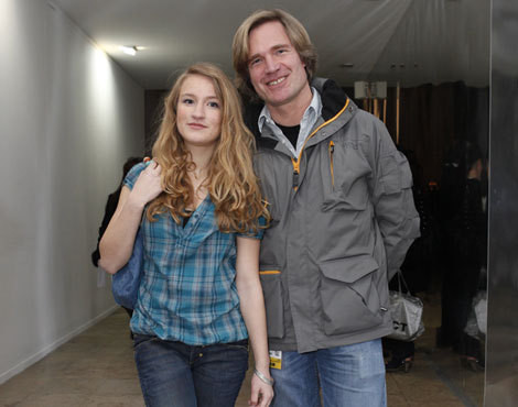 Piet-Hein Bakker e a filha, Margarida