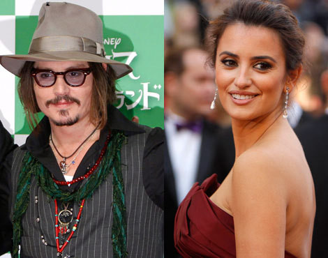 Johnny Depp e Penélope Cruz